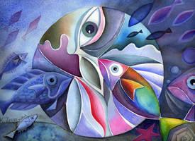 Aquatic Mandala by karincharlotte