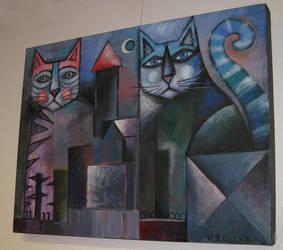 Village cats by karincharlotte