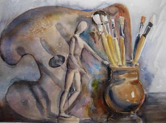 Artist still life by karincharlotte