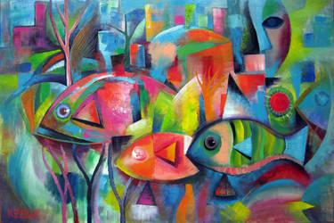 Fish Abstract by karincharlotte