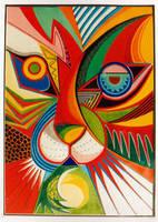 Tiger abstract by karincharlotte