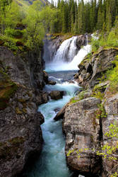 Waterfall in Norway by wellowr