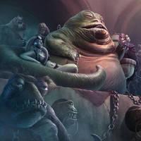 Jabba the Hutt by dangercook