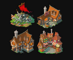 Fantasy buildings by petura