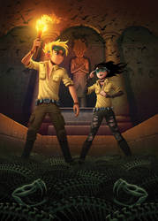 Jake Atlas and the Tomb of the Emerald Snake by petura