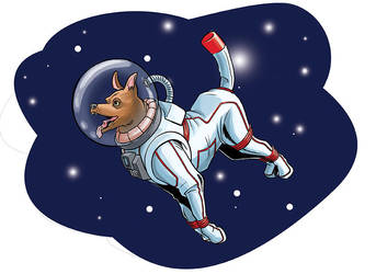 Space dog by Kwasibor
