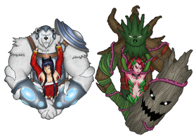 LoL: Goddesses and Guardians by Grimgor09