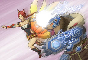 Ahri/Volibear Ultimate: Thunder Orb! (V2) by Grimgor09