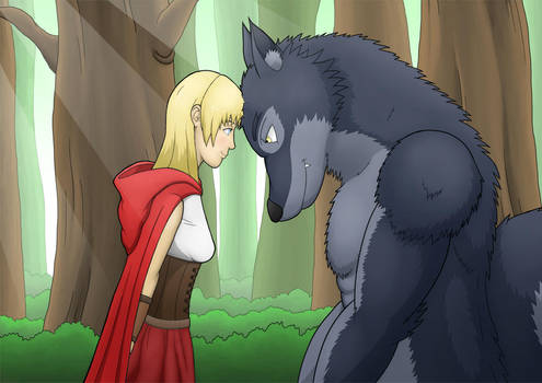 Red Riding Hood and Mr Wolf by Grimgor09