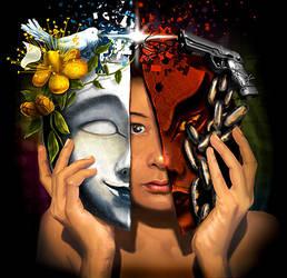 Good vs Evil by Saibel