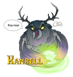 Boomkin goes Pew Pew - Gift for Kanrell by Cilitra