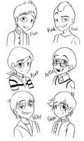Glee-the guys by M4DH4ttey266