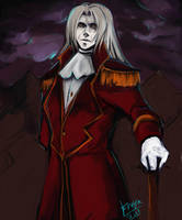 WIP. Alexander portrait by SilentAndSullen