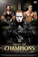 WWE Night of Champions 2015 Poster by Chirantha