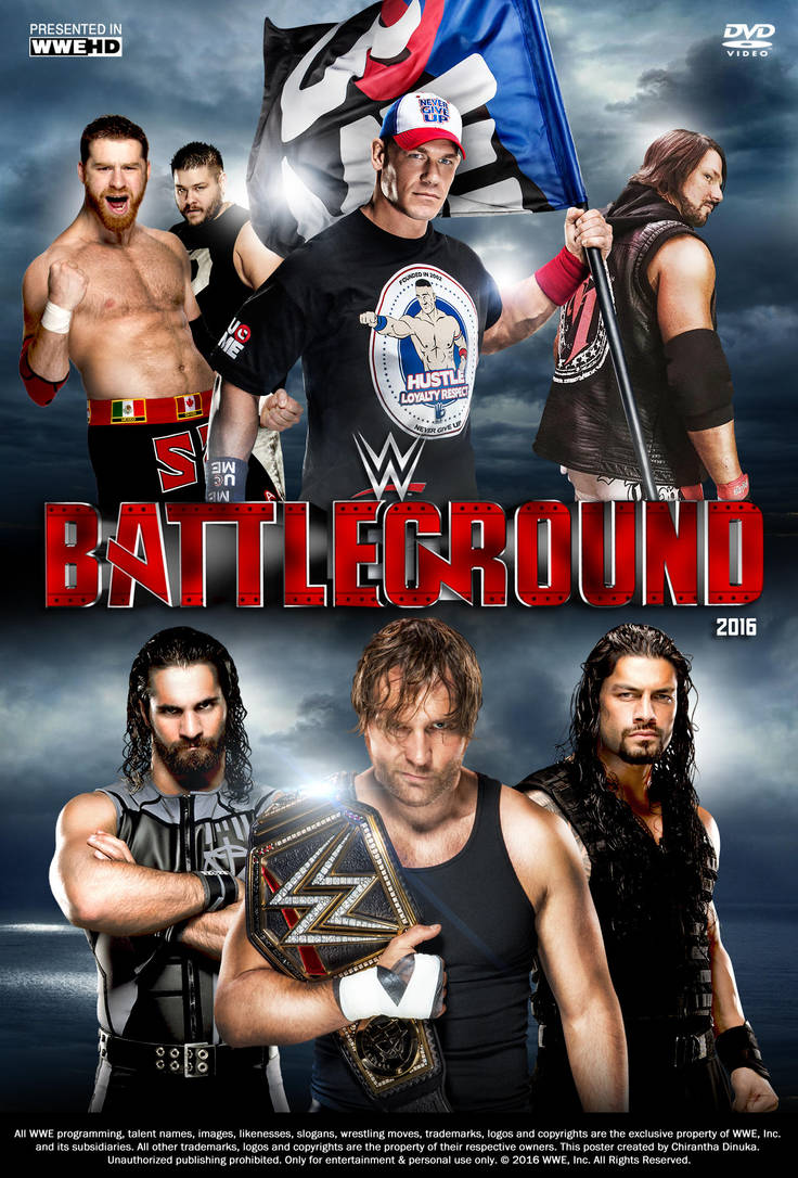 Image result for wwe battleground 2016 poster