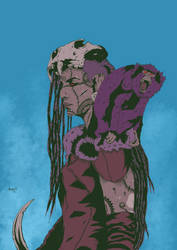 Huntress Berserk color  by Marvelzukas