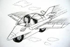 Week 11 - Bike-Plane WIP by ryuuza-art