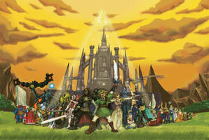 25 Years of the Legend of Zelda by ryuuza-art