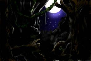 Amano Project 1 - Night Forest by ryuuza-art