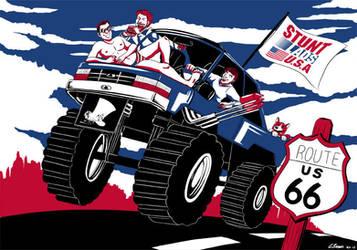 Stunt Lads of America by ryuuza-art