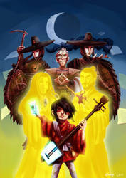 Kubo and the Two Strings by ryuuza-art