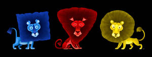 Primary Lions by killskerry