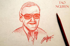 Tao Nguyen's Stan Lee Sketch Drawing by TaoNguyenArts