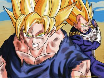 Goku y Vegeta SSJ by CoreasDesing