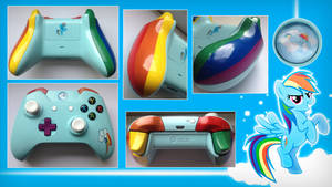Rainbow Dash Custom Xbox One Controller by CARDI-ology