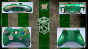 Slytherin Harry Potter Custom Xbox 360 Controller by CARDI-ology