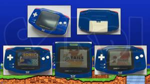 Custom Sonic the Hedgehog Original GameboyAdvance by CARDI-ology