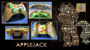 Custom Wireless Apple Jack X360 Controller by CARDI-ology