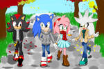 Walking with friends by PeachyEmily