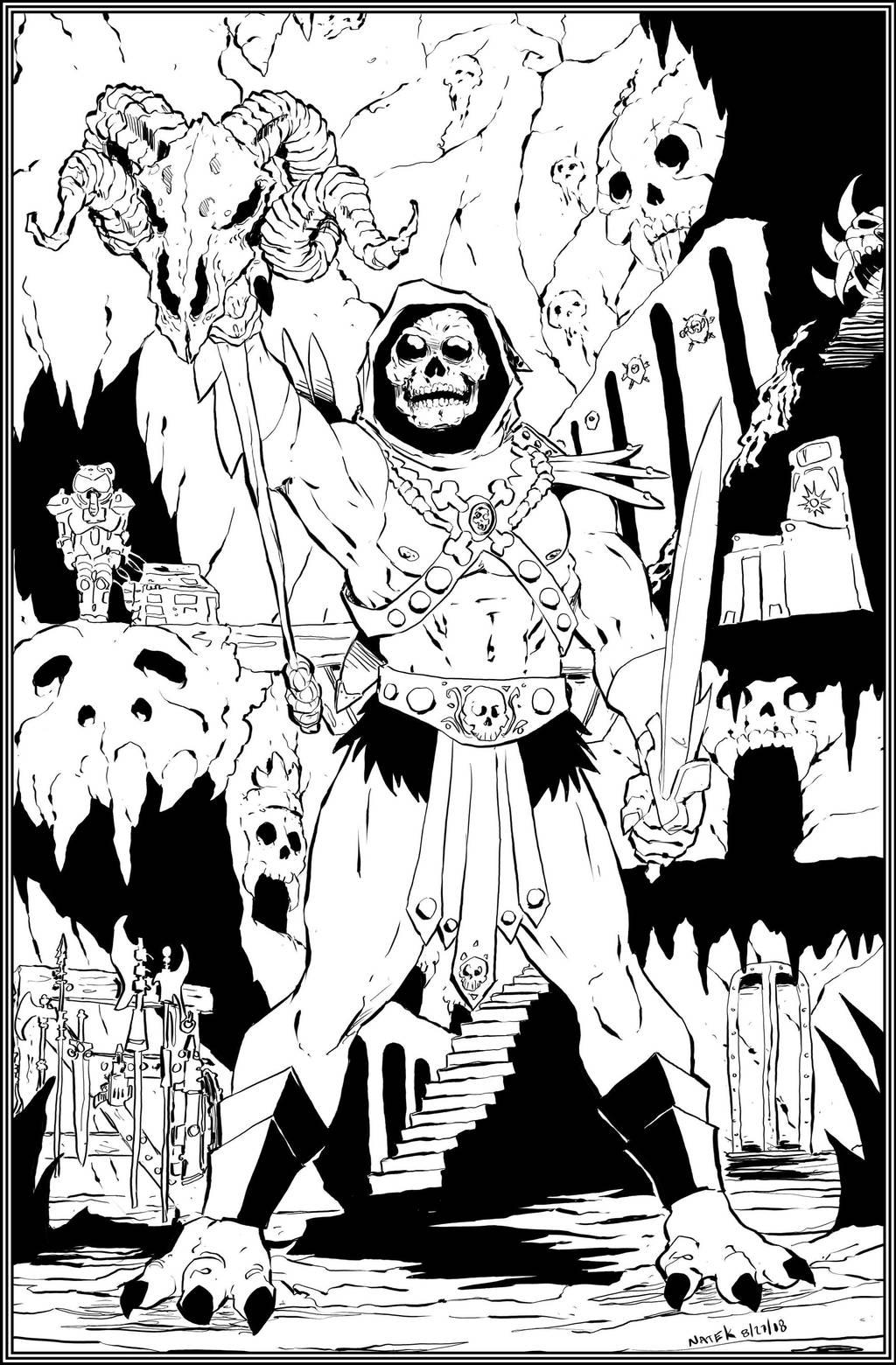 Skeletor in Castle Grayskull by NathanKroll