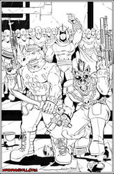 Bebop and Rocksteady by NathanKroll