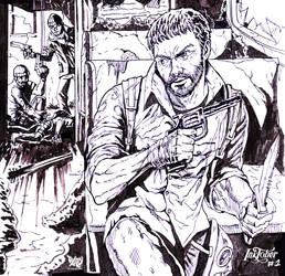 JOEL - THE LAST OF US -  INKTOBER 1 by Tadory
