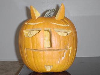 Hellboy Pumpkin by vipmib