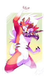 Art Trade: Mica the Lycanroc by Cabbion