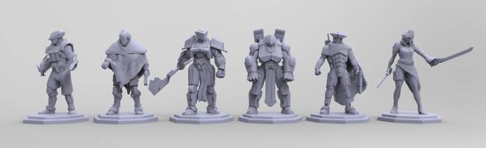 Technomages Cast by BrandonSwanArt