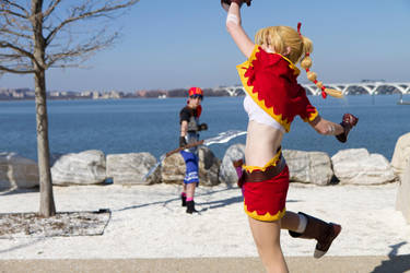 Chrono Cross - Kidd and Serge Photoshoot - 2 by octomobiki
