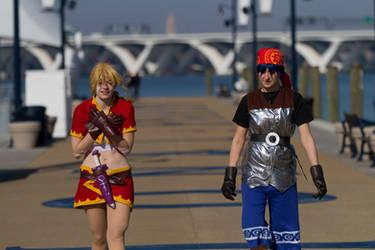 Chrono Cross - Kidd and Serge Photoshoot 7 by octomobiki