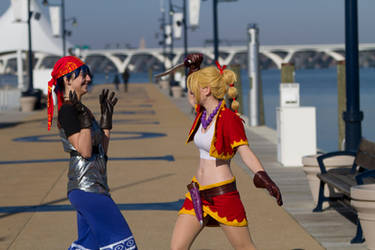 Chrono Cross - Kidd and Serge Photoshoot 8 by octomobiki