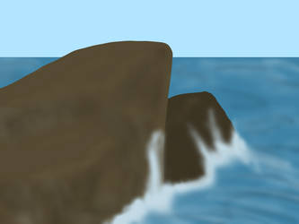 Waves Clash With Cliffs by CobraCatDragon2898