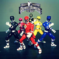Mighty Morphin Power Rangers: The Movie figures by ULTIMATEbudokai3