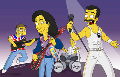 QUEEN - Simpsons Tribute. by edwheeler