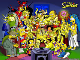 Simpsons Saint Seiya by edwheeler