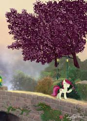 Roseluck in the garden by AmethystHorn