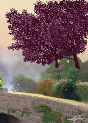 Sakura in the garden by AmethystHorn