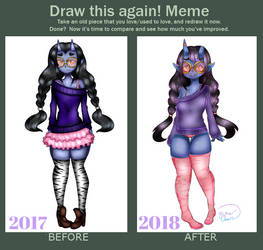 Rui the Oni before and after! by luna-howltothemoon
