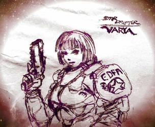 Star Drifter Varya by KronnangDunn